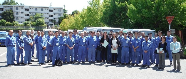 Group shot with Tsuzuki Resources and Waste Collection Office Workers and CYO Staff